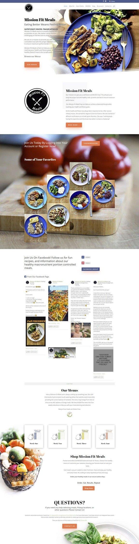 Mission Fit Meals Website 1